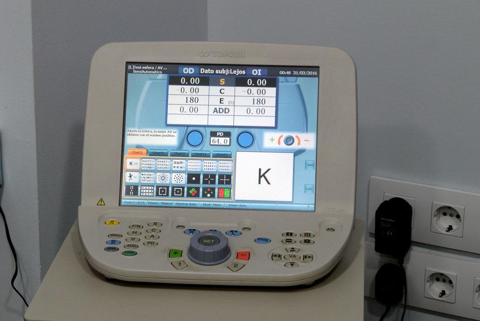 Sala de optometría
